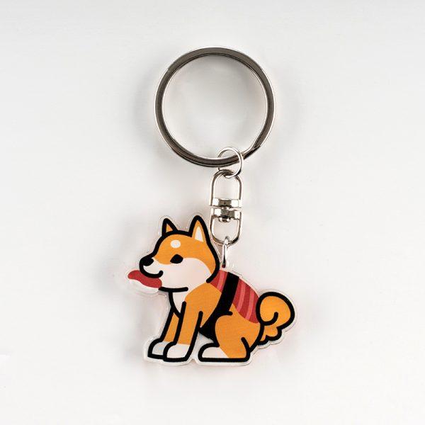 Porte-clés kawaii Shiba